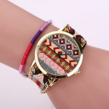 Women's Boho Stripes Woven Bracelet Watches
