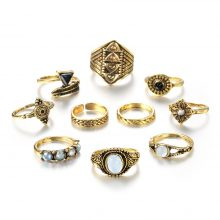 Boho Vintage Knuckle Ring Set for Women