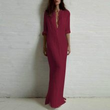 Boho Fashion Autumn Casual Long Maxi Dress