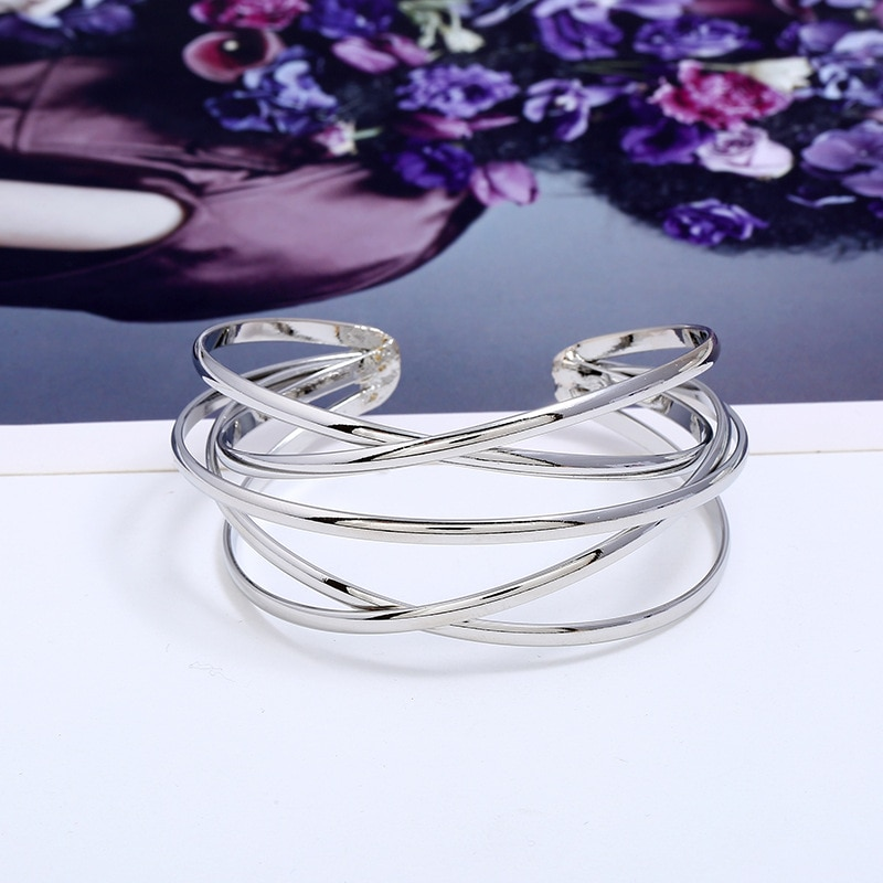 LZHLQ Cuff Bangles For Women Brand Big Bohemia Boho Fashion Bangles Indian Girls Bracelets & Bangles Female Cute Ladies Jewelry