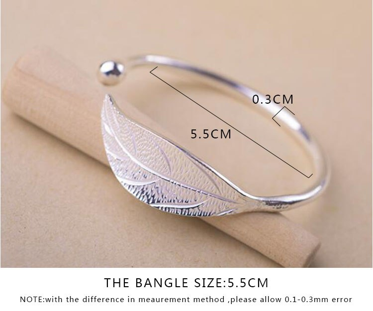 SMJEL Fashion Trendy Open Leaf Cuff Bracelet Bangles for Women Simple Plant Bracelet Femme Boho Jewelry Birthday Gift SYSZ014