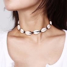 shell choker necklace rope chain