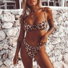 leopard High cut sexy swimsuit